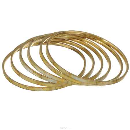 Купить Набор браслетов Ethnica, цвет: светло-желтый, 6 шт. 098045