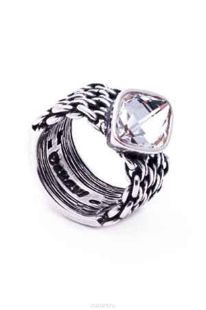 Купить Кольцо Jenavi Коллекция Relax Истирахат, цвет: серебряный, белый. r9723000. Размер 19