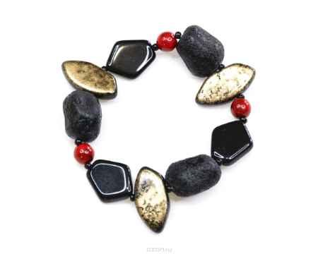 Купить Браслет Bohemia Style, цвет: черный, золотой, рыжий. 165 5079 00
