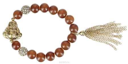 Купить Браслет Taya, цвет: золотистый, коричневый. T-B-4566