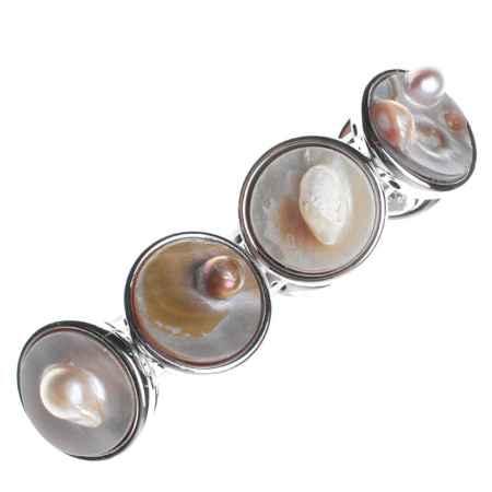 Купить Браслет Infiniti, цвет: серебряный, слоновая кость, бежевый. PE0003