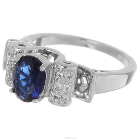 Купить Кольцо Taya, цвет: синий, серебристый. T-B-4776