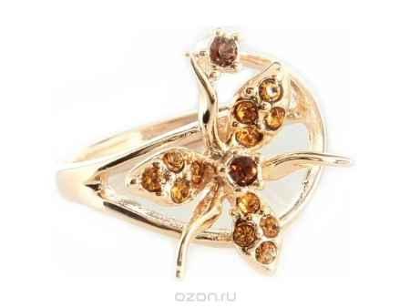 Купить Кольцо Jenavi Коллекция Королева ночи Гудалеара, цвет: золотой, мультиколор. j109p070. Размер 17