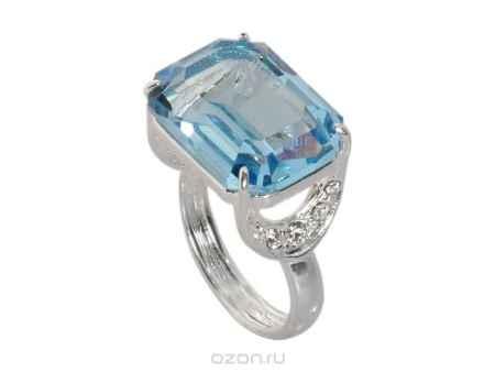 Купить Кольцо Jenavi Коллекция Погода Шквал, цвет: серебряный, голубой. e514f040. Размер 19