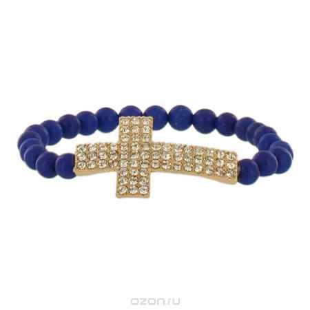 Купить Браслет Taya, цвет: золотистый, синий. T-B-4501
