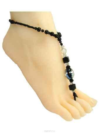 Купить Браслет на ногу Taya, цвет: черный. T-B-10141