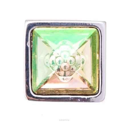 Купить Накладка на кольцо-основу Jenavi Коллекция Ротор Вис, цвет: серебряный, мультиколор. k195fr23. Размер 1,5x1,5