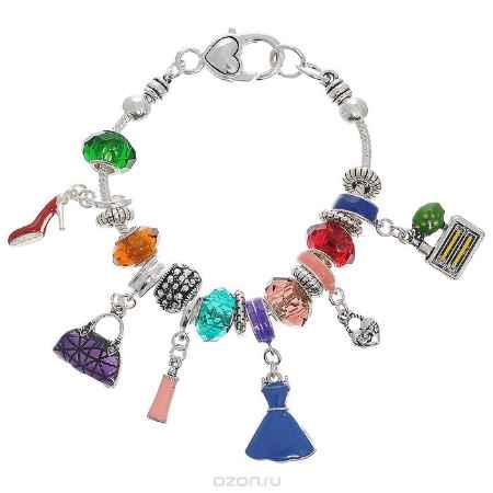 Купить Браслет Taya, цвет: серебристый, мультиколор. T-B-4417