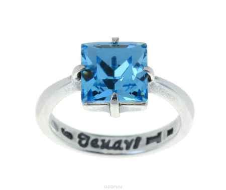 Купить Кольцо Jenavi Коллекция Циркония Ларен SW, цвет: серебряный, голубой. r6643040. Размер 18