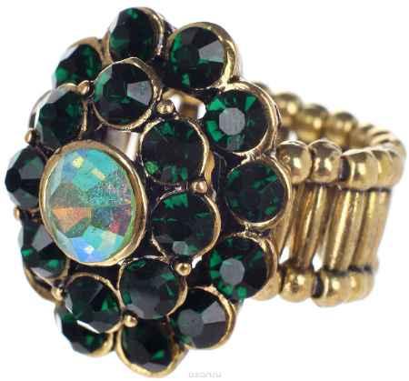 Купить Кольцо Taya, цвет: золотистый, изумрудный. T-B-7321