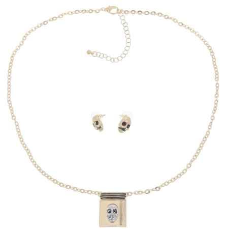 Купить Комплект украшений Avgad: колье, серьги, цвет: золотистый. H-477S1009