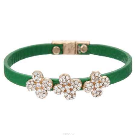 Купить Браслет Taya, цвет: золотистый, зеленый. T-B-5803-BRAC-GL.GREEN