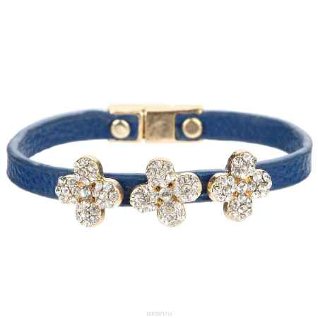 Купить Браслет Taya, цвет: золотистый, синий. T-B-5806