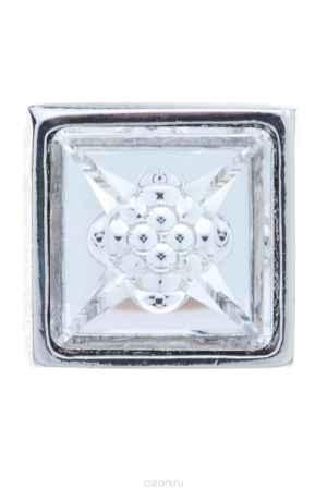 Купить Накладка на кольцо-основу Jenavi Коллекция Ротор Гвинт, цвет: серебряный, белый. k183fr00. Размер 22