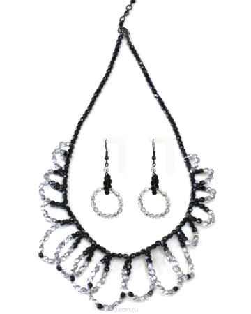 Купить Бусы,серьги Bohemia Style, цвет: черный, серебристый. 1248 5141 00