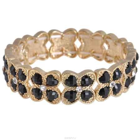 Купить Браслет Taya, цвет: золотистый, черный. T-B-6227