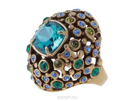 Купить Кольцо Jenavi Коллекция Террацио Нураг, цвет: бронзовый, голубой. r481w043. Размер 19
