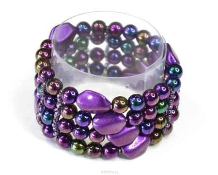 Купить Браслет Bohemia Style, цвет: фиолетовый, хамелеон. 165 5580 02
