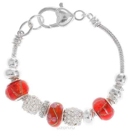 Купить Браслет Taya, цвет: серебристый, красный. T-B-5624