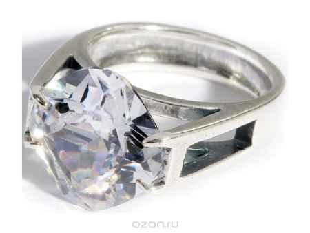 Купить Кольцо Jenavi Коллекция Леди Сириус, цвет: серебряный, белый. a07630a0. Размер 19