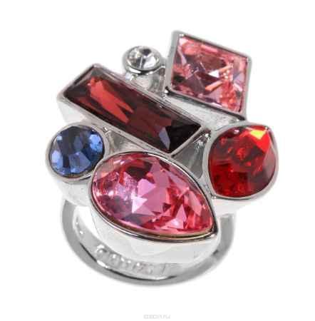 Купить Кольцо Jenavi Коллекция Виктуар SW Элюар, цвет: серебряный, красный. r597f016. Размер 21