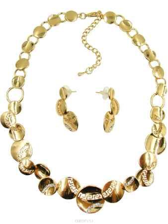 Купить Комплект украшений Taya: серьги, колье; цвет: золотистый. T-B-10208-SET-GOLD