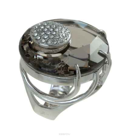 Купить Кольцо Jenavi Коллекция Bubbles Ятру, цвет: серебряный, серый. j704f066. Размер 21