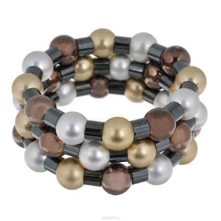 Купить Набор браслетов Avgad, цвет: золотистый, черный, пеламутровый, коричневый. BR77KL66