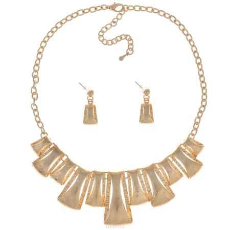 Купить Комплект украшений Taya: колье, серьги, цвет: золотистый. T-B-9291