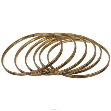 Купить Набор браслетов Ethnica, цвет: коричнево-зеленый, 6 шт. 098045