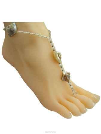 Купить Браслет на ногу Taya, цвет: кремовый. T-B-10138