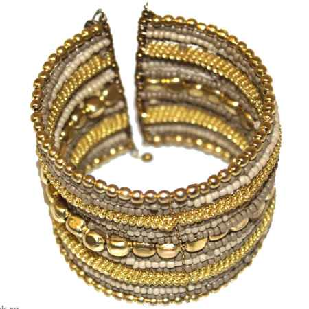 Купить Браслет Ethnica, цвет: золотой, бежевый. 239080