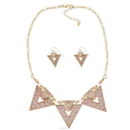 Купить Комплект Avgad: колье, серьги, цвет: золотистый, розовый. H-477S826