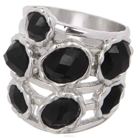 Купить Кольцо Taya, цвет: серебристый, черный. T-B-3734