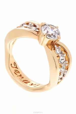 Купить Кольцо Jenavi Коллекция Teona Яльба, цвет: золотой, белый. f425q0a0. Размер 20