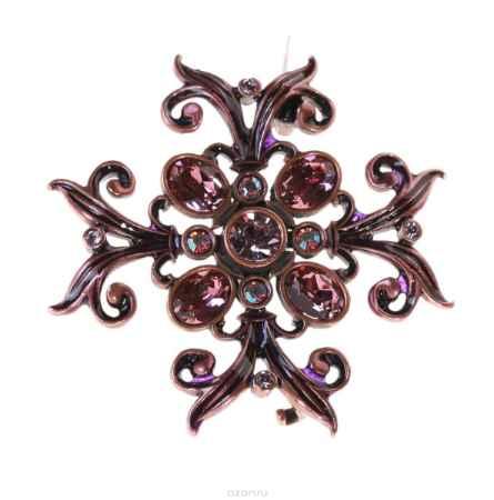 Купить Брошь Jenavi Коллекция Орден Сердца Орден Красоты, цвет: медный, розовый. j611u610. Размер 5x5