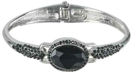 Купить Браслет Taya, цвет: серебристый, черный. T-B-7095
