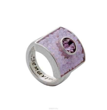 Купить Кольцо Jenavi Коллекция Квазар Майлон, цвет: серебряный, розовый. j938f010. Размер 20