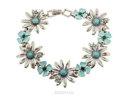 Купить Браслет Jenavi Коллекция Сударыня Боуринга, цвет: серебряный, голубой. e40734e4. Размер 19
