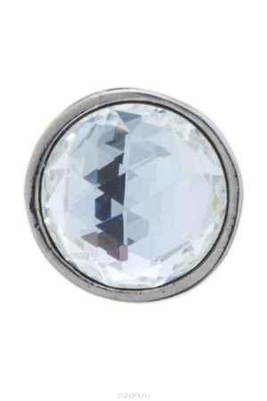 Купить Накладка на кольцо-основу Jenavi Коллекция Ротор Круви, цвет: серебряный, белый. k194fr00. Размер 1