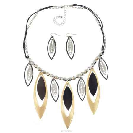 Купить Комплект Avgad: колье, серьги, цвет: золотистый, серебристый, черный. H-477S812