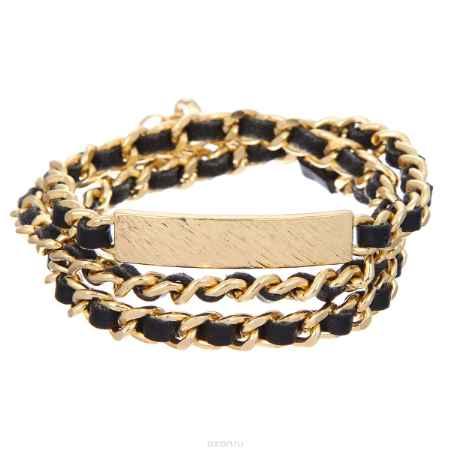 Купить Браслет Taya, цвет: золотистый, черный. T-B-5255-BRAC-GL.BLACK