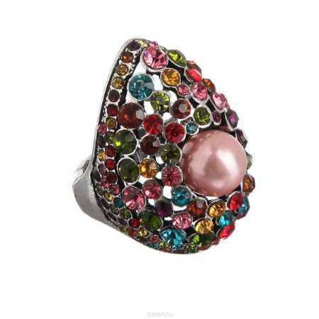 Купить Кольцо Taya, цвет: мультиколор, серебристый. T-B-7290