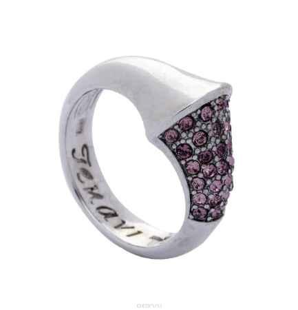 Купить Кольцо Jenavi Коллекция Озон Танака, цвет: серебряный, розовый. j950f010. Размер 19