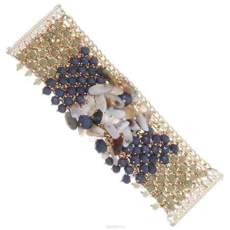 Купить Браслет Taya, цвет: золотистый, серый. T-B-8214-BRAC-GL.GRAY