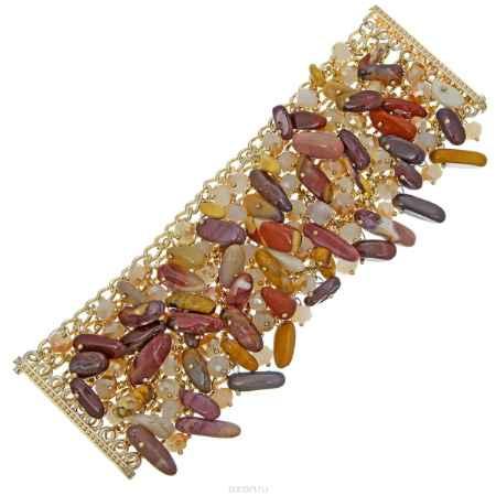 Купить Браслет Taya, цвет: золотистый, коричневый. T-B-8295-BRAC-GL.BROWN
