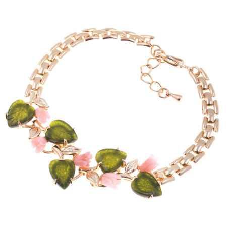 Купить Браслет Migura, цвет: золотой, зеленый, светло-розовый. LOMD0068