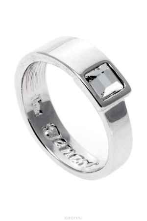 Купить Кольцо Jenavi Коллекция Quadro Робуст, цвет: серебряный, белый. r841f000. Размер 18
