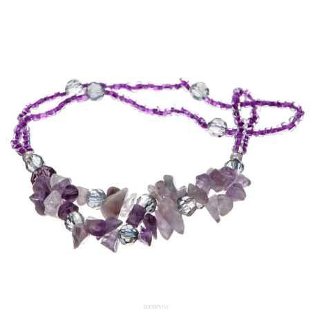 Купить Браслет на ногу Taya, цвет: пурпурный. T-B-10139-BRAC-PURPLE