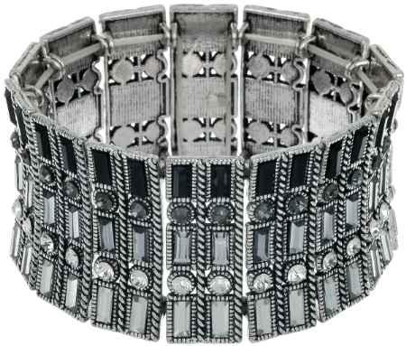 Купить Браслет Taya, цвет: серебристый, черный. T-B-7437